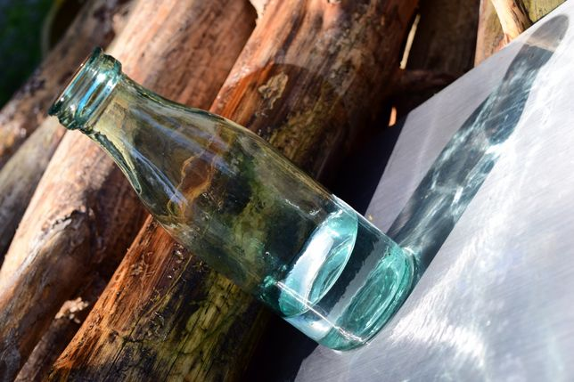 Пляшка бутылка СССР с под молока кефира молочная