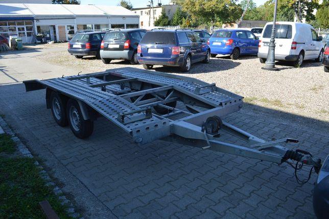 Laweta Przyczepa wynajem na doby DMC 2000 kg Ładowność 1500 kg