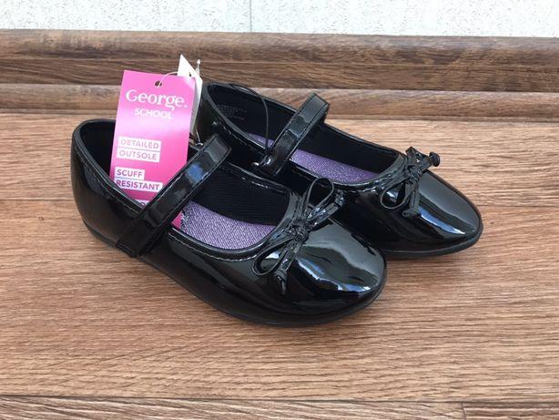 HM Новые лаковые туфли туфельки George next стелька 17.2см