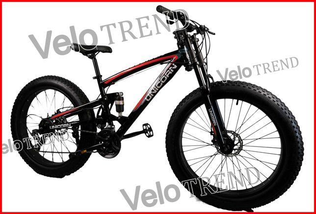Горный велосипед Unicorn фэтбайк Fet-Bike 26″ Рама 17 черно-красный