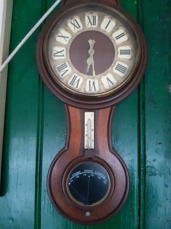 Stary zegar ,termometr ,barometr na baterie  Prl
