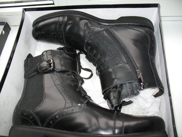 Ботинки зимние кожаные.