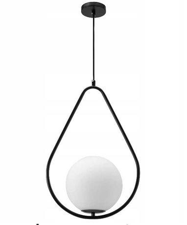 LAMPA sufitowa wisząca METAL CZARNA LOFT Kula