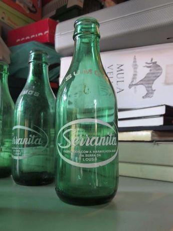 Garrafas Serranita = lote de 11 garrafas =