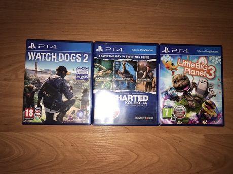Gry Watch Dogs 2, Uncharted Kolekcja, Little Big Planet 3