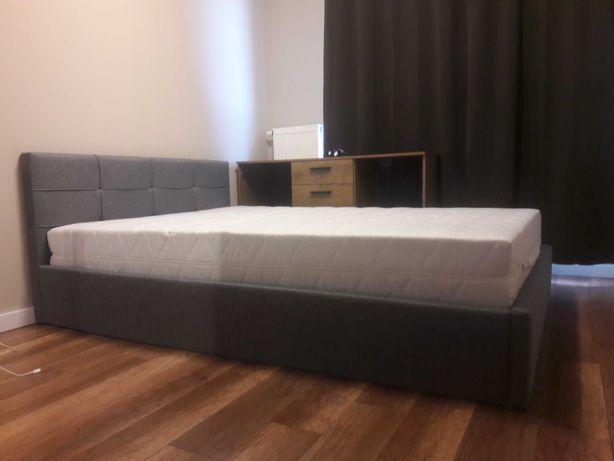 Łóżko 140x200 tapicerowane + Materac kieszeniowy z kokosem H2 H3