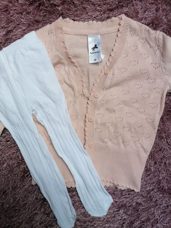 Sweterek Palomino rajstopki rozmiar 92