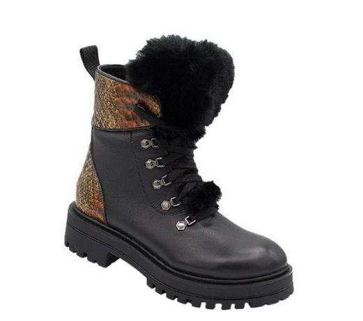 Жіночі зимові шкіряні черевики Bistfor (женские ботинки)