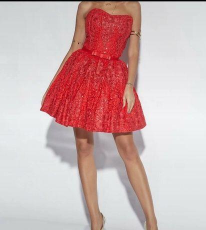 Sukienka lou cheryl nowa z metką s 36 czerowa  wesele