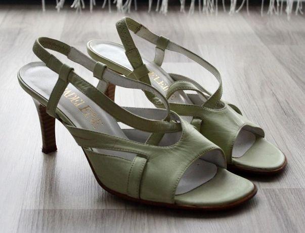 Buty, sandały na obcasie 37 pastelowe Madeleine