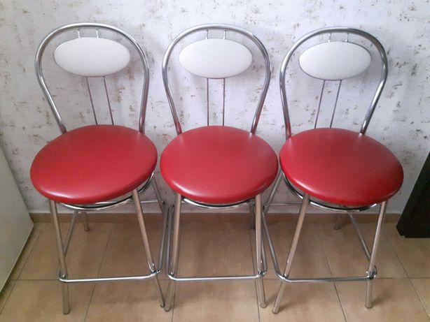 Hoker Krzesło Barowe Komplet 3szt stan bardzo dobry