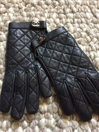 Rękawiczki Chanel , oryginał, stan bdb, skóra