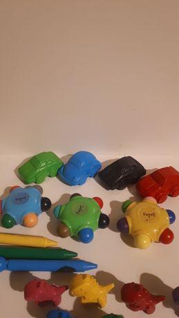 Kredki colorino auta dinozaury