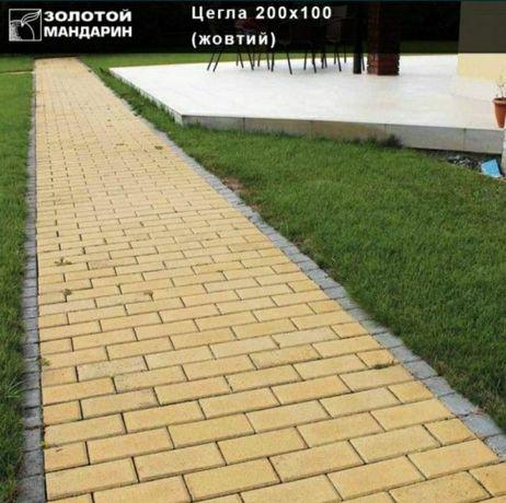 Плитка тротуарна від виробника Золотий Мандарин знижка