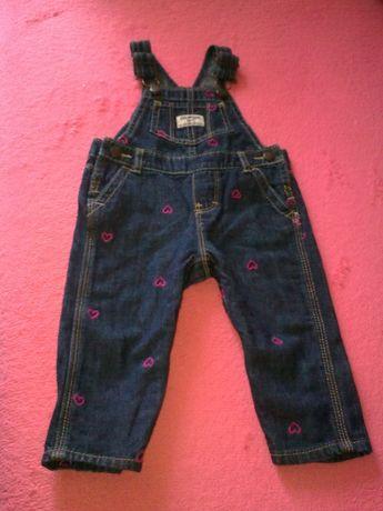 фирменный джинсовый комбинезон для малышки OSH KOSH