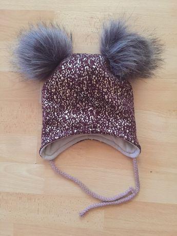 Нова тепла гарненька шапка, шапочка на 1 -2 роки на обхват 46-48