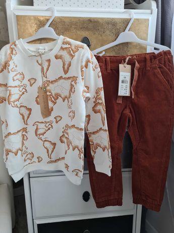 Bluza 98/104 spodnie 98 sztruksowe newbie nowe z metkami