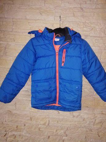 H&m 134 chłopiec piękne kolory zimowa kurtka
