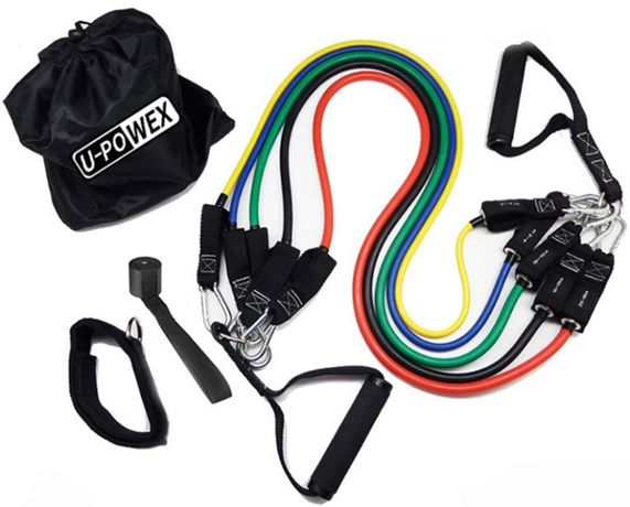 Эспандер трубчатый 5 трубок, для тренировок U-Powex, CrossFit кроссфит