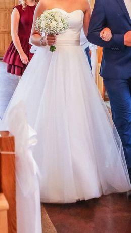 Suknia ślubna princessa 36-38 z welonem
