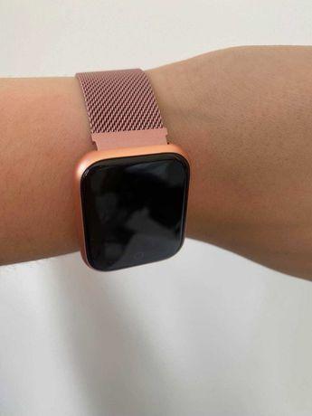 Zegarek, smartwatch bracelet róż, czarny