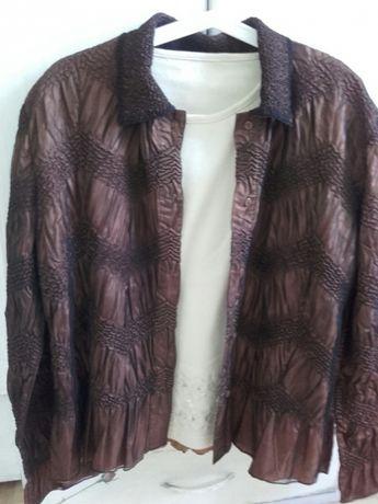NOWA -Elegancka bluzka/żakiecik w kol. brąz i czerń -rozm.L/XL