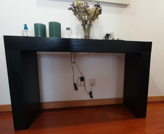 Consola em madeira wengue preto 1,20m