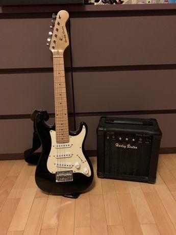 Gitara harley benton z piecykiem