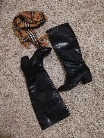 Samsoe. cапоги кожаные,  демисезонные. размер 38.