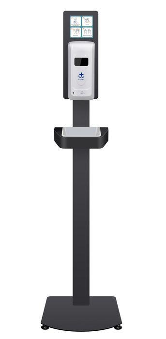 Dispensador de Alcool Gel Automatico suporte de chao oferta 5 lts Gel Alhos Vedros - imagem 1