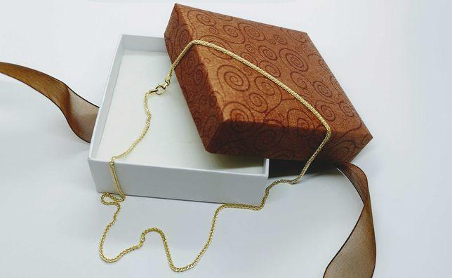 Złoty łańcuszek lisi ogon AU585