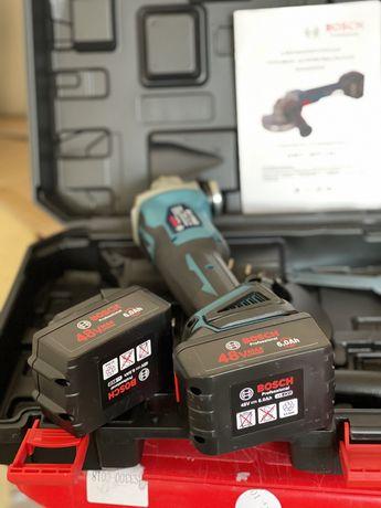 2 АКБ / Бесщеточная аккумуляторная Болгарка Bosch GWX 48V 10C 125 мм