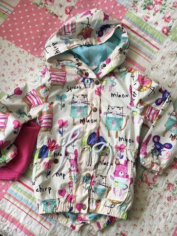Курточка ветровка для девочки