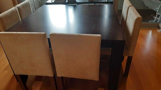 Mesa jantar wengue + 8 cadeiras