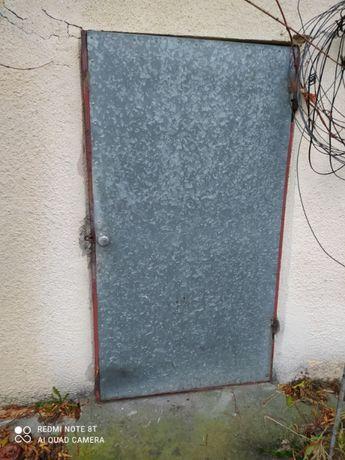 Drzwi metalowe jednoskrzydłowe ocynk. Do budynku gospodarczego