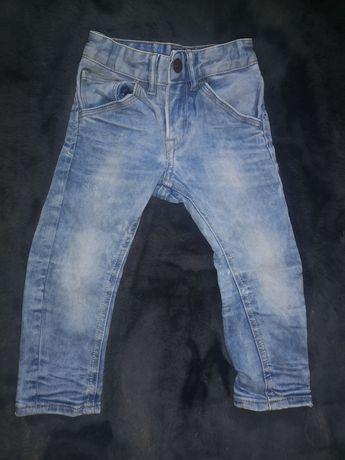 Sprzedam spodnie jeansowe rurki rozm. 92 h&m