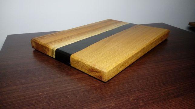 Deska do serwowania potraw, serów, wędlin dębowa 35 x 25 x 3 cm