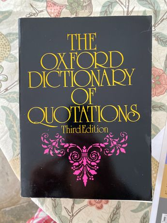 Słownik cytatów the oxford dictionary of quotations