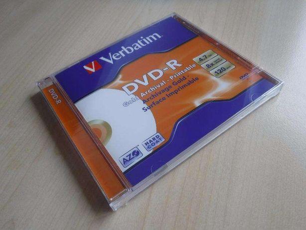 Płytka nośnik płyty Verbatim DVD-R Gold Archival Printable 4,7 GB