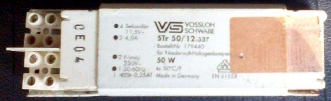 Transformadores 220V-12V para lampadas de halogêneo