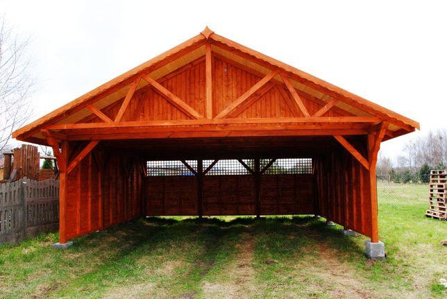 wiaty drewniane,garaż drewniany,budynki gospodarcze,magazyn,wiata,6x5m