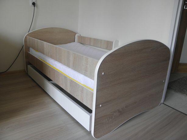 łóżko dziecięce dąb sonoma 1,40x70 nowe z materacem