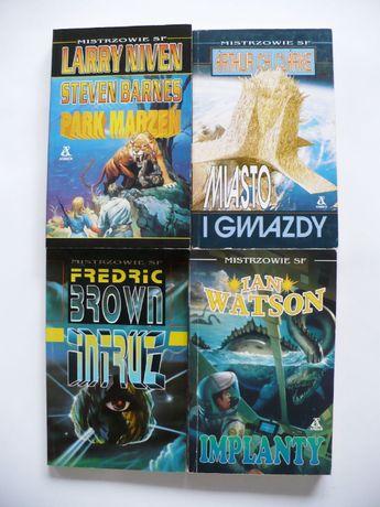 Brown, Watson, Niven, Barnes, Clarke x 4 Zbiór powieści SF