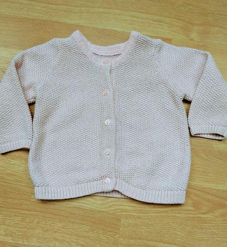 Sweterek H&M różowy rozmiar 74