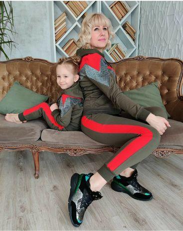 Парний костюм мама/дочка/тато