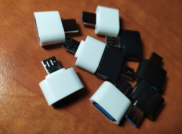 Переходник для флешки android Андроид otg micro usb to USB type c юсб