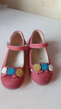 Кожаные туфли на девочку ортопедия