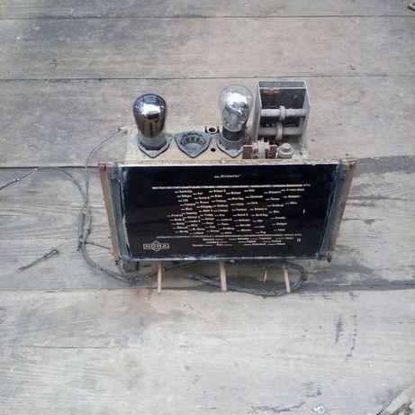 chassis radio Nora typ B07 lata 37-38 kolekcjonerskie nie elektrit