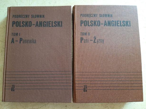 Podręczny słownik polsko angielski Wiedza Powszechna 1989 dwa tomy