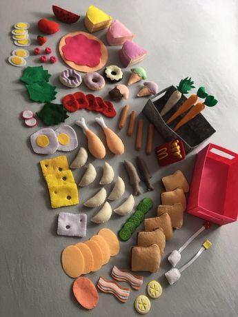 Zestawy jedzenia z filcu do zabawy Rękodzieło